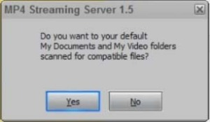 MP4 Streaming Server 1.5 autoscan