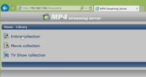 mp4 streaming server web browser