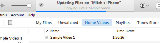 copying video with itunes