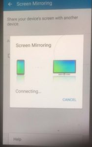 samsung smarttv video phone screen mirroring connect